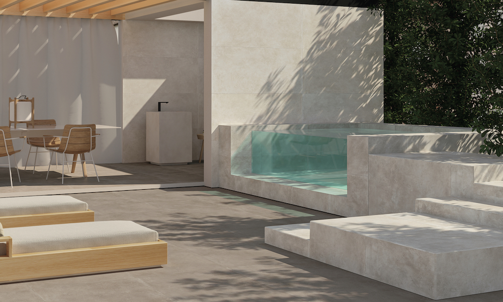 L'OUTDOOR DESIGN SELON CERAMICHE PIEMME